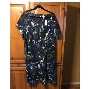 Avenue knee length dress. Green and blues NWT